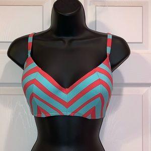 Coco Rave Chevron Striped Halter Bikini Top